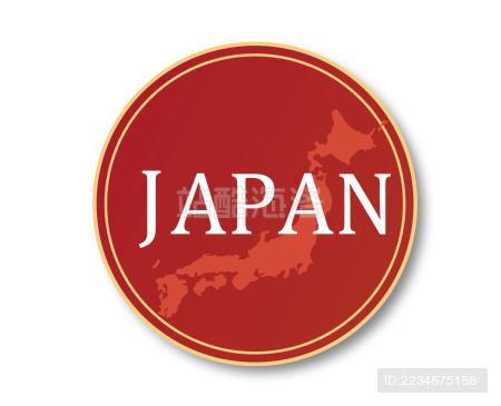 漂亮日本地图标志。适合使用日本产品·日本旅游等等