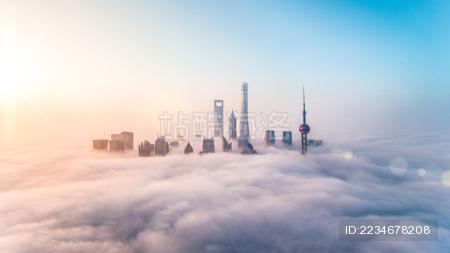 上海陆家嘴城市风光