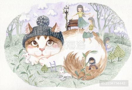 猫咪和女孩子小动物们