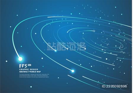 同心圆组成的行星轨道线 抽闲旋涡线条背景图