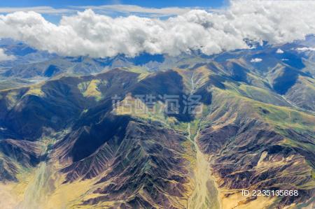 航拍青藏高原