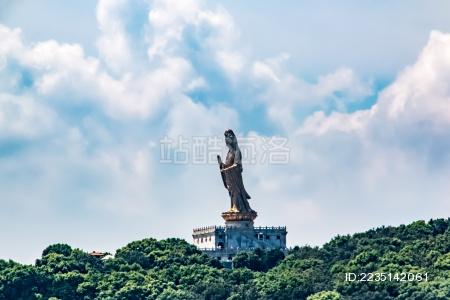 浙江省舟山市普陀山观音菩萨佛像景观