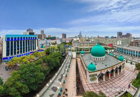 银川市清真寺建筑景观