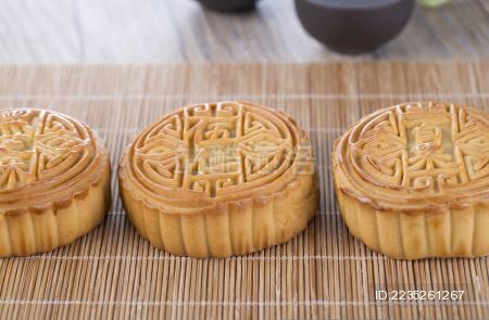 中秋节美食 月饼。 中国传统食物 节日美食