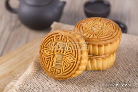中秋节美食 月饼 五仁月饼