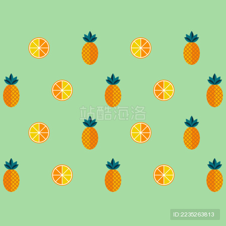 Pineapple Orange Wallpaper Fruit 菠萝 橙子 水果 壁纸