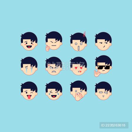 表情包 Emoji 男孩