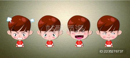 Vectorgraph Expression  QQ表情  face 卡通人物  动漫 男孩  Cartoon boy
