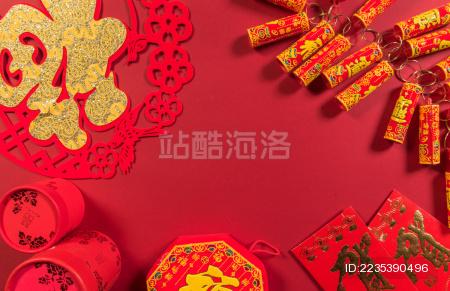 中国传统过年元素