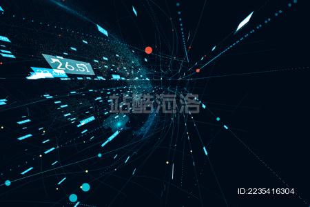 蓝色科技大数据流动背景