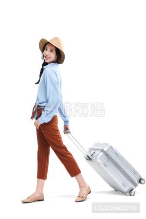 青年女人旅行