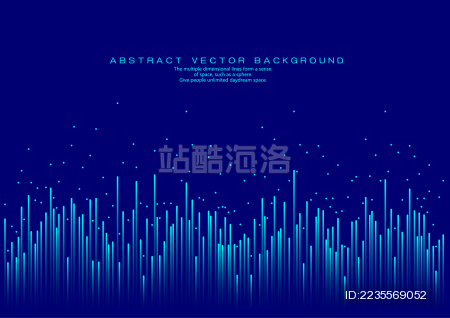 线条组成的发光的背景图 抽象矢量背景
