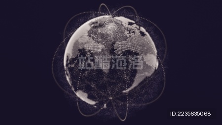 大数据科技地球模型