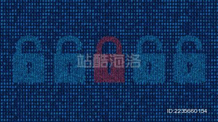 金融数据存储 网络代码科技 虚拟现实 锁头
