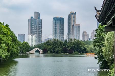 安徽省合肥市都市高楼建筑景观