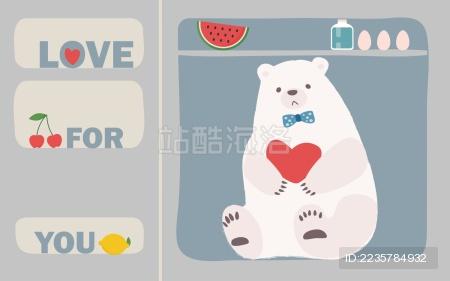 冰箱里的白熊