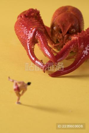 迷你小人 小龙虾 Crawfish