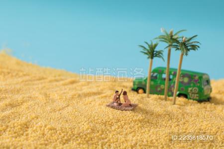 缩微小人 小人国 微距 海底世界 沙滩 度假 潜水 小米   干货   五谷杂粮   特产   农产品   农家干货