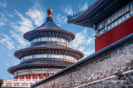 北京天坛祈年殿建筑特写