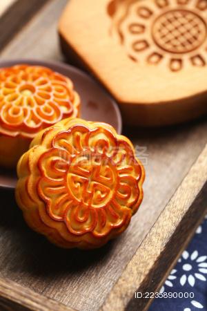 月饼和模子 中秋节