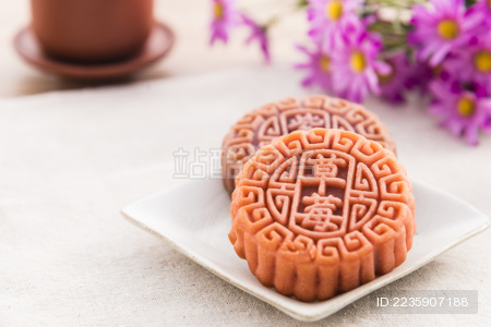 中秋 月饼 茶水