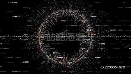 企业大数据抽象科技感背景图