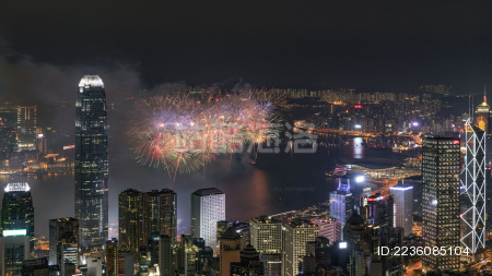 香港国庆烟花汇演