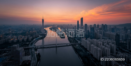 广州CBD城市日落