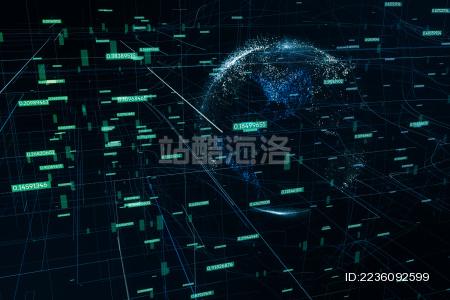 三维渲染 全球大数据概念