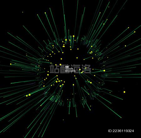 点线连接科技感抽象背景、国际化、互联网、大数据