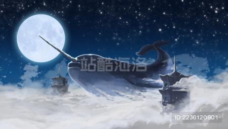 遨游天空的鲸鱼