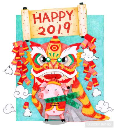 猪年贺图过新年