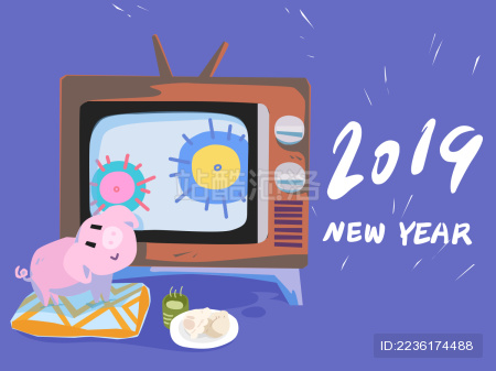2019猪年贺新春图