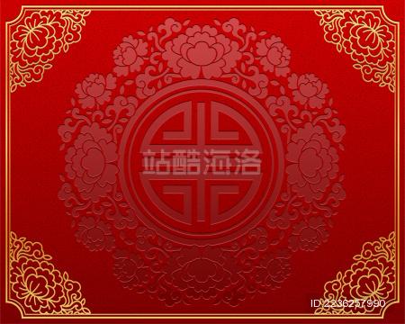 中国风传统纸艺背景