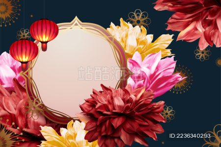 中国春节贺卡背景设计模板