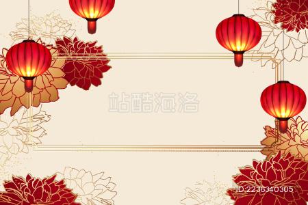 中国春节贺岁卡背景设计模板
