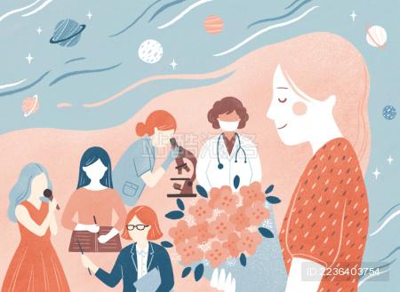 妇女节人物插画