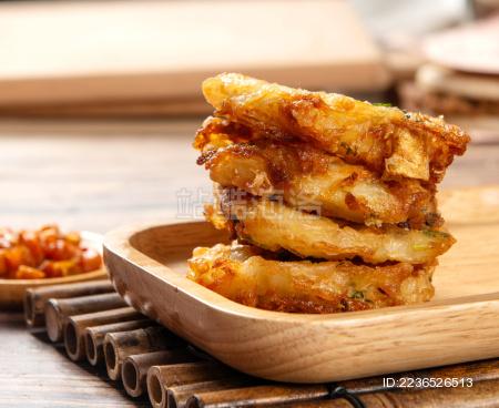 油炸小吃莲藕饼