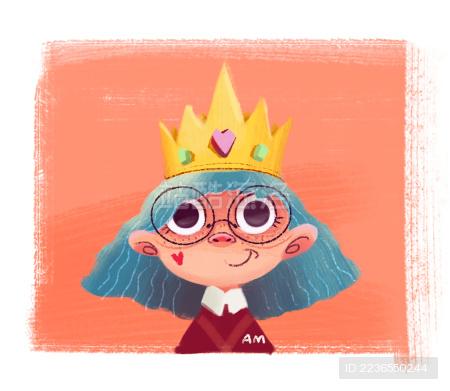 头戴冠冕的女孩子