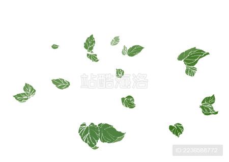 绿色叶子图案