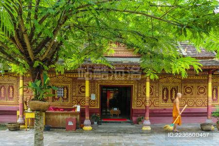 中国云南省西双版纳的佛教寺庙