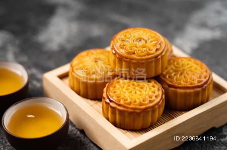 中国中秋节传统美食糕点——月饼