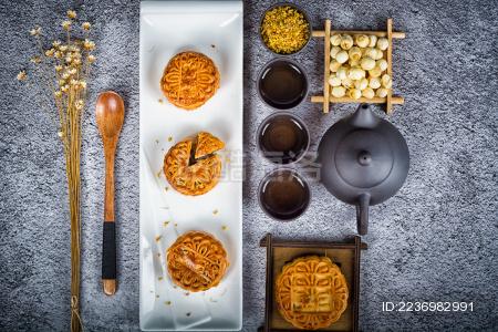中秋传统美食月饼