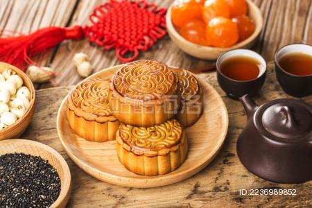 传统节日中秋节月饼