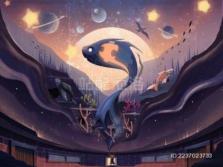 夜空下的星辰大海