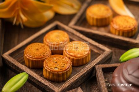 中国的中秋节传统美味糕点——月饼
