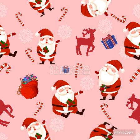 圣诞节元素背景矢量插画