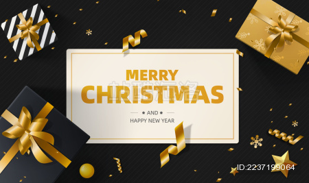圣诞节和新年元旦等节日的海报矢量背景素材
