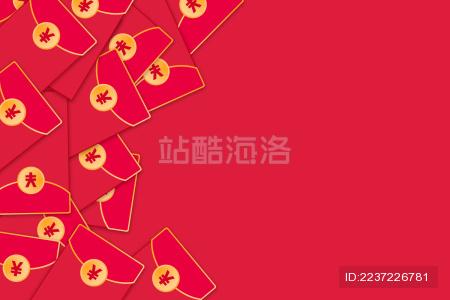 新年节日气氛的红包海报素材