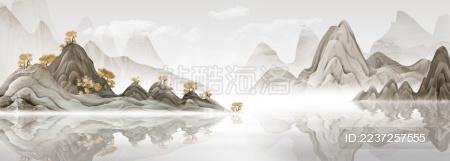 新中式意境水墨山水现代简约装饰画